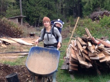 We also had several other bonfires this fall - we often had a backpack tag-a-long while we consolidated the burn piles.